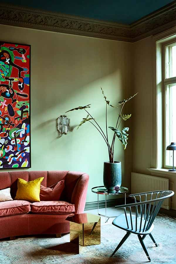 Colour Collection living room with Classico in Landscape, Belgian Wilderness and Steel Bl