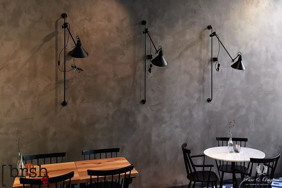 Marrakech Walls in the colour zinc, applied in a restaurant