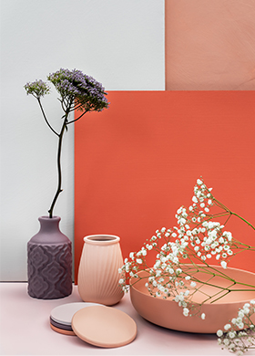 New pink, red and purple interior paint colours