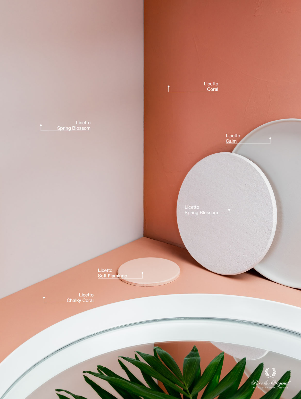 Dusty pink, red and orange tints for in the living room, bedroom or kitchen