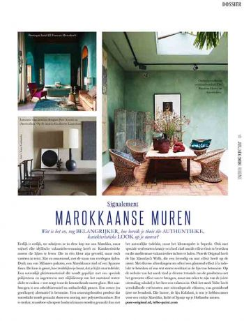 Article RESIDENCE ed7/8 2018 Marrakech Walls